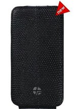 New Trexta Flippo Leather Flip Case Pouch for Apple iPhone 4 4S - Exotic Black - $16.95