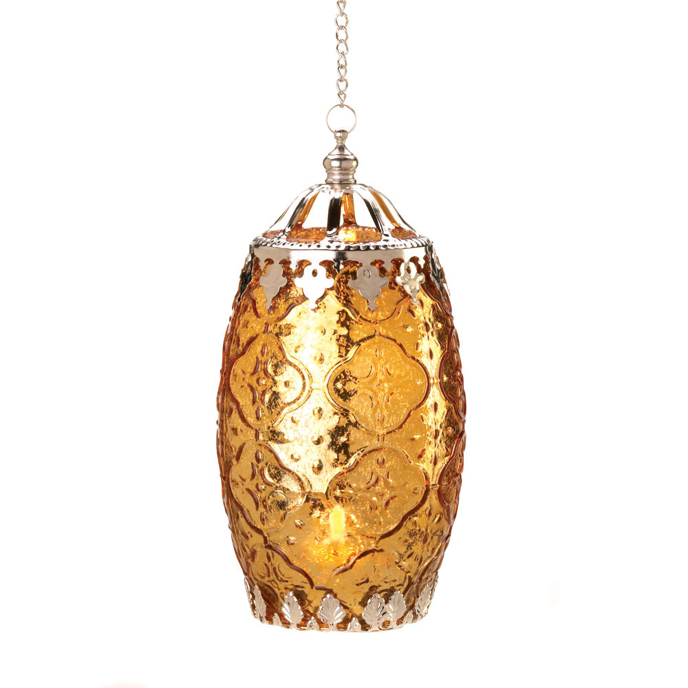 Filigree CANDLE LANTERN PAIR two color set