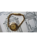 WORKING Gold Filled 15 Jewel Swiss Watch By Hallmark 10K Gold Simmons Band - $50.00
