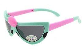 Lovely Seven-Spotted Ladybugs Folding Baby Sunglasses-Blue Frame