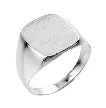 Men's Sterling Silver Signet Ring - £43.03 GBP