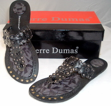 """Woman's Black Sandals traction tread by Pierre Dumas """"Hayden"""" NEW Free Shipping - $15.99"""