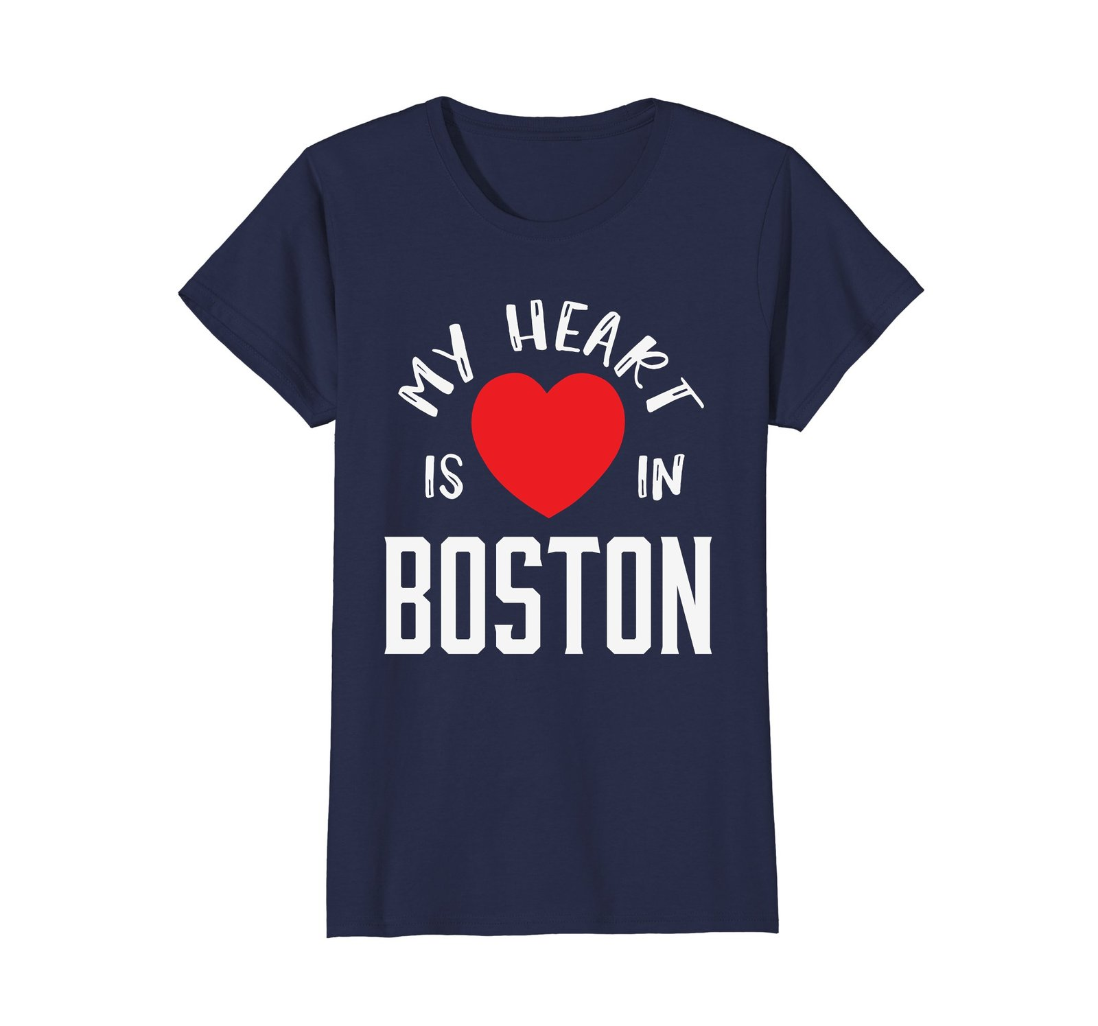 Boston My Heart Is In Boston Massachusetts Shirt