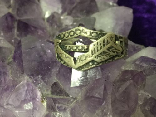 Positive Energy Ring Powerful Tailsman Wiccan Ring Energy  - $44.55