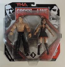 TNA Wrestling Cross The Line Stevie Richards & Dafney action figures WWE... - $21.75
