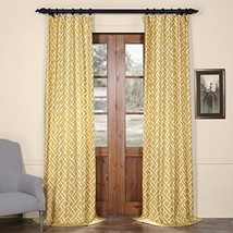 PRCT-D07A-84 Martinique Printed Cotton Curtain,Yellow,50 X 84 - $60.15