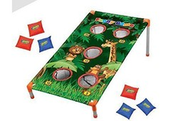 Kids Zoo Animal Bean Bag Toss Carnival Jungle Party Games Camp Activities - $18.61