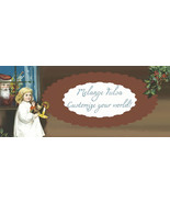 Bonanza Booth Banner- Santa and Girl- Christmas... - $2.39