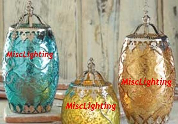 Filigree candle lanterns two color set