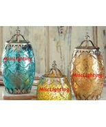 Filigree CANDLE LANTERN PAIR two color set - $16.99
