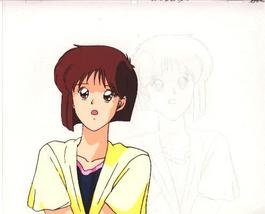 """Ashita e Free Kick """"Mizuho Aritaka"""" Anime Cel (0248) - $5.00"""