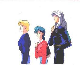 """Ashita e Free Kick """"Trio of Bishounen"""" Anime Cel (0253) - $5.00"""