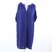 Navy blue cold shoulder keyhole ADRIANNA PAPELL 1/2 sleeve shift dress 10 - $39.99