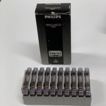 Philips Mini-Cassette Audio Record Tapes 30 Minute Pack Of 10 W/Clips #0... - $83.00
