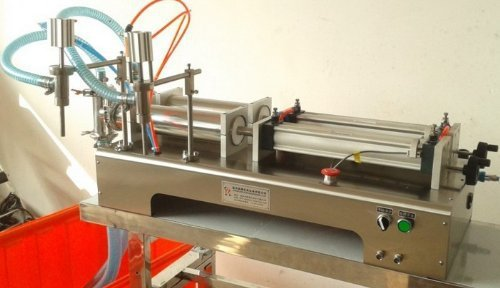 Gowe Liquid Filling Machine, Pneumatic, Semi-automatic Filler, Stainless Steel,d