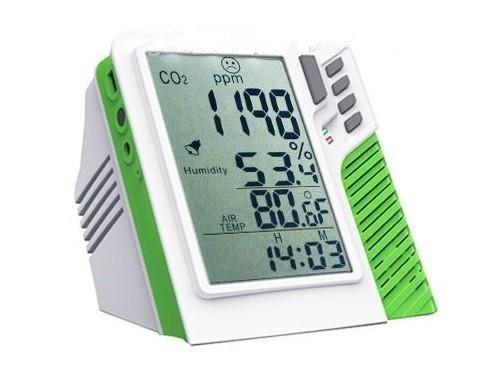 Gowe Digital Wall mountDesktop Carbon Dioxide CO2 0-9999ppm Monitor Temperature