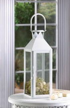 2 Large White Candle Lantern Wedding Centerpieces - $38.57