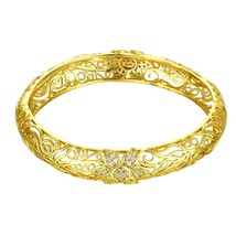 Gold Dust Wrap Swarovski Bangle Bracelet - $12.73