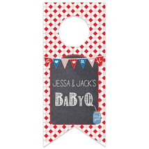 Baby Q It's a Girl Personalized Baby Shower Water Bottle Hang Tag - $26.24
