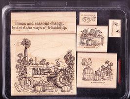 Stampin Up Times & Seasons rubber stamp set - $45.00