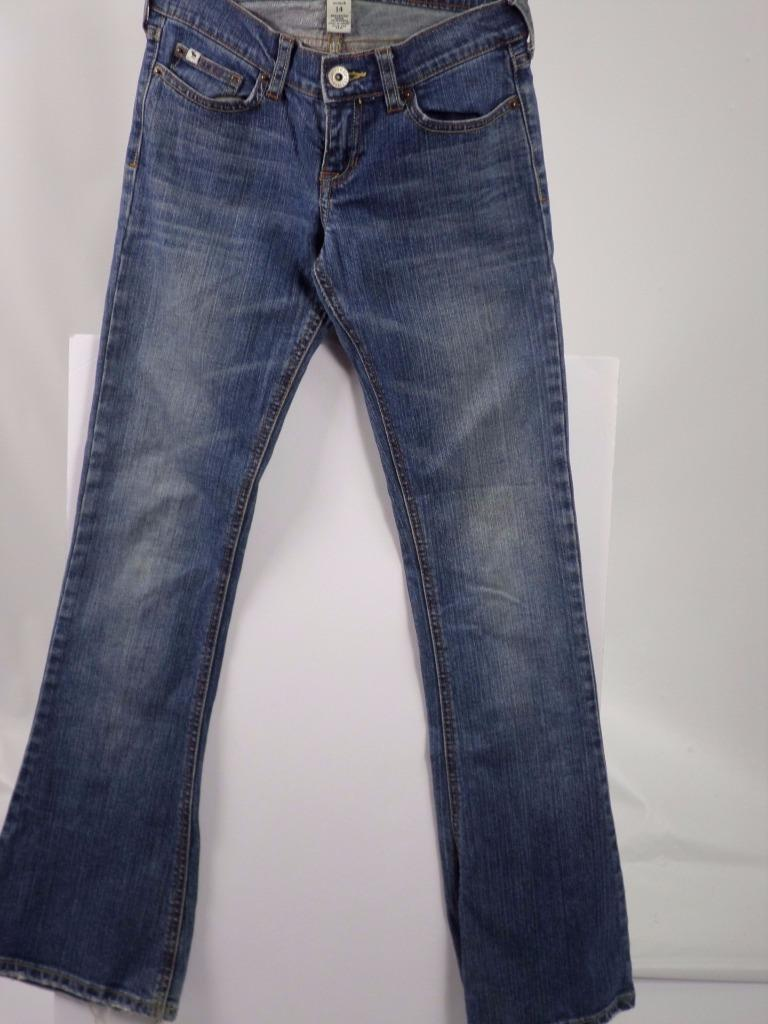Girls Abercrombie Stretch Jeans Skinny Flare Distressed Light Wash Size 14 - $13.09