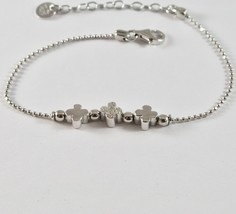 Silver Bracelet 925 Jack&co to Balls with Four-Leaf Clover with Zircons JCB0782 image 1