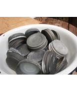 12 Vintage Zinc Lids Ball Mason Canning Jars White Porcelain Inserts Som... - $25.73