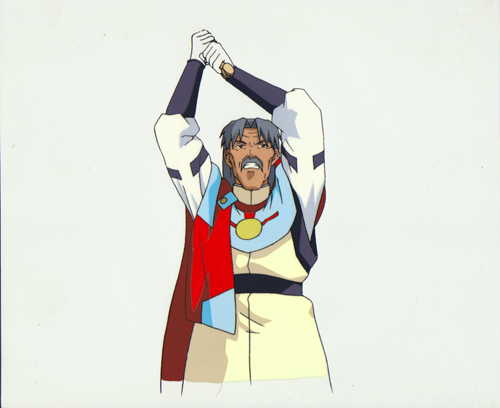 "Tenchi Muyo ""Tenchi's Grandfather"" Anime Cel (0237)"