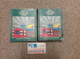 1978 Chrysler Plymouth Dodge Service Repair Shop Manual Set W Adjustment... - $89.09
