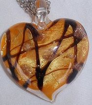 Morano orange heart pendant a thumb200