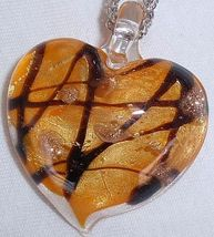 Morano orange heart pendant a 1 thumb200