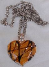 Morano orange heart pendant a 2 thumb200