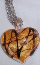 Morano orange heart pendant a 3 thumb200