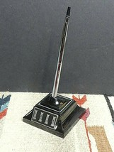 Cross USA Vintage Glass Desk Pen Set With Holder With Pen - Ballpoint Ex... - $46.55