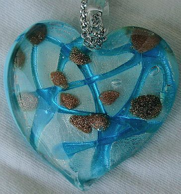 Primary image for Morano turquoise heart pendant