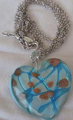 Morano turquoise heart pendant