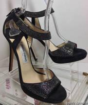 JIMMY CHOO Lancer Crystal-Embellished Suede Sandals (Size 37) image 7