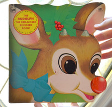 vintage A Little Golden Book Christmas Children's Book Rudolf red nosed ... - $4.94