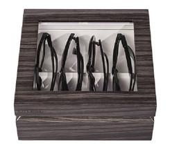OYOBox Luxury Eye Wear Unisex Mini Zebra Gray Lacquer Finish Wood Organi... - €132,95 EUR