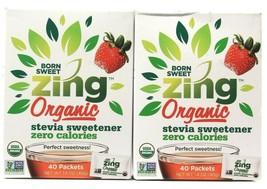 2 Count Domino Foods Born Sweet Zing Organic Stevia Sweetener 1.4Oz BB 4... - $15.99