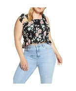 NWT Womens Plus Size 4X Nordstrom BP Floral Smocked Tie Strap Tank Top - $9.79