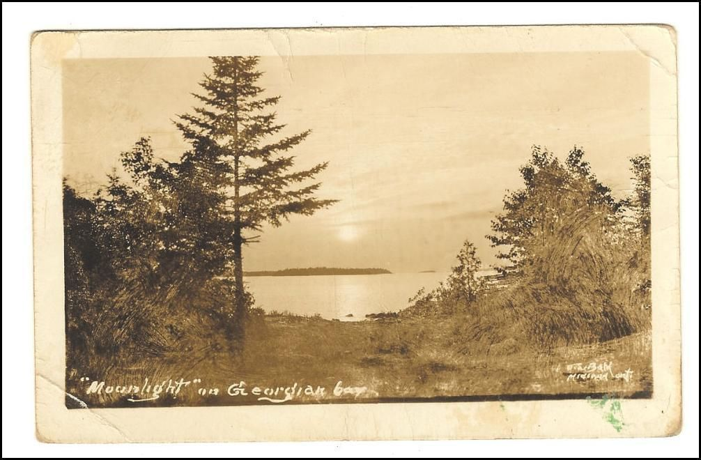 Primary image for Photo Postcard  Moonlight on Georgian Bay J.W. Bald's Series Ontario, Canada