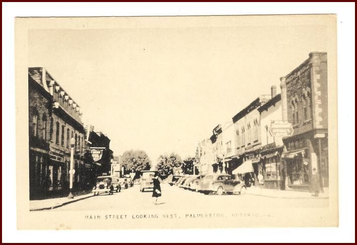 Primary image for Palmerston Ontario Main Street Looking West Postcard