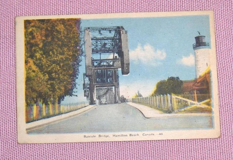 Primary image for Bascule Bridge Hamilton Beach    Ontario Canada  Postcard