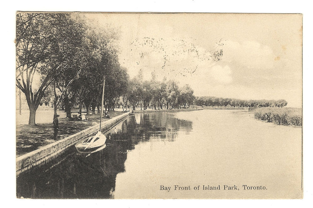 Primary image for Postcard  Bay Front of Island Park  Toronto  Ontario