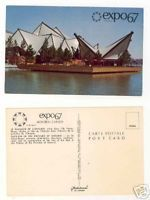 Primary image for Collectible Expo67 Postcard Ontario Pavilion