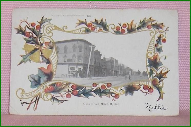 Primary image for Main Street Mitchell Ontario Vintage   Postcard