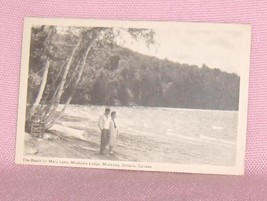 Beach on Mary Lake  Muskoka Lodge Muskoka  Ontario Postcard - $12.95