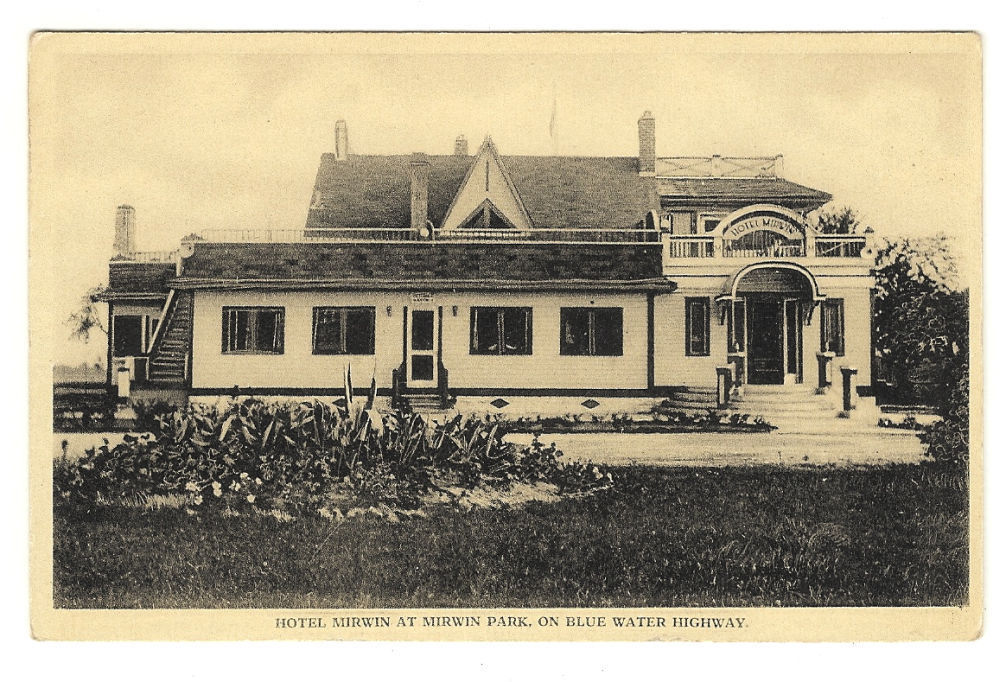 Primary image for Postcard  Hotel Mirwin at Mirwin Park on Blue Water Highway Ontario