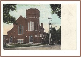 Belleville Ontario Baptist Church Postcard Postmarked 1909 - $8.78